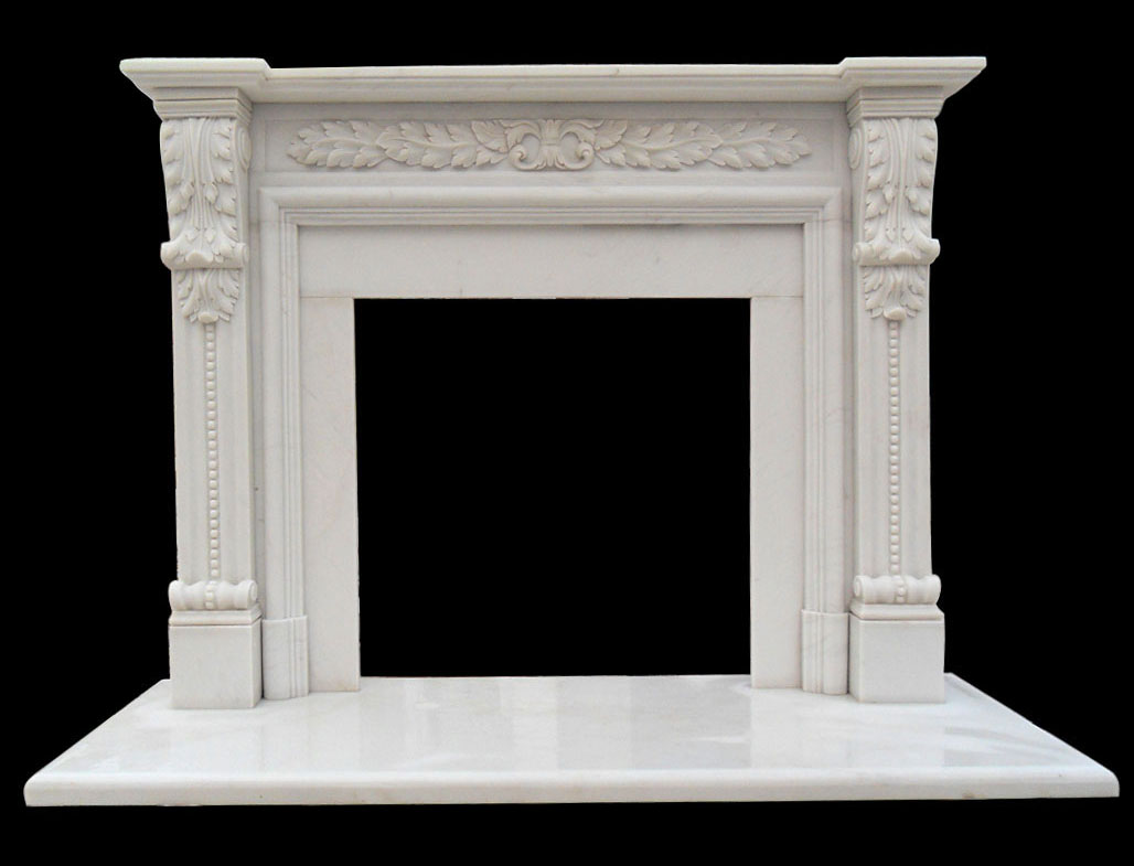 Hinsdale White Marble Fireplaces Sale Ornate Mantel