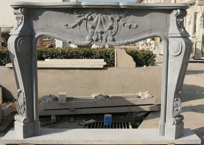 Louis IX Marble Fireplaces Sale. Sale Marble Fireplace Surround - Louis IX Marble Fireplaces Sale - French - Mantels - Floral