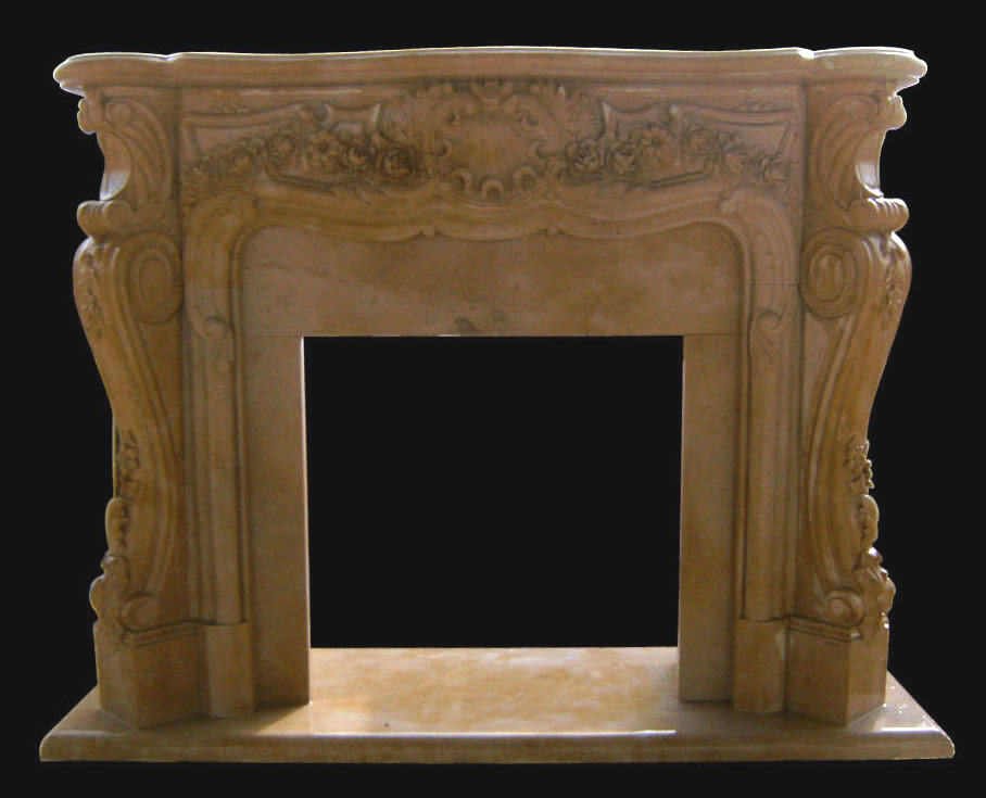 Sale victoria marble fireplace french ornate floral for Marble mantels for sale