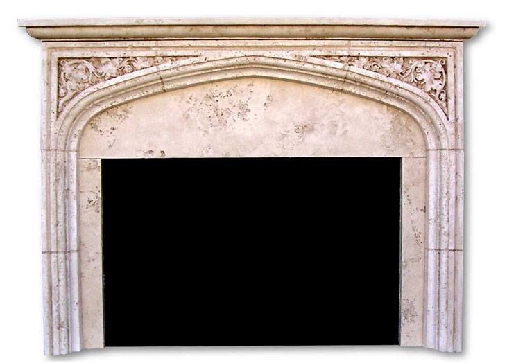 English tudor ii with mantel fireplaces cast stone designs for Tudor style fireplace