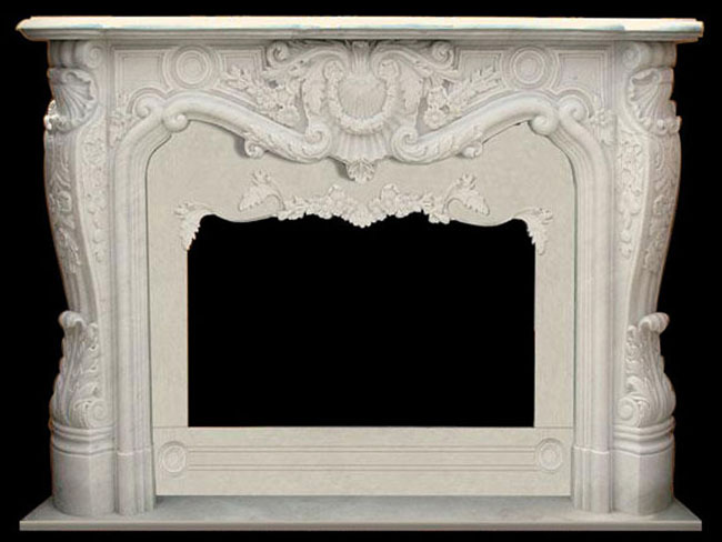 French Marble Mantels | White Fireplaces