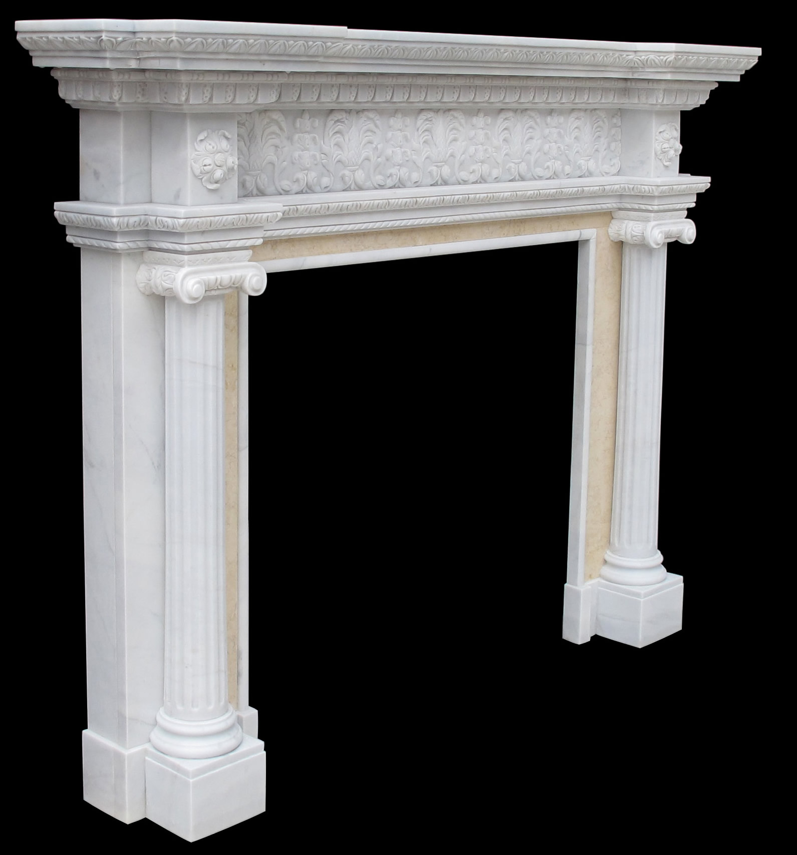 French Mantel Sale. Sale Sandstone Fireplace Surround - Ionic Albany New York Fireplace Sale
