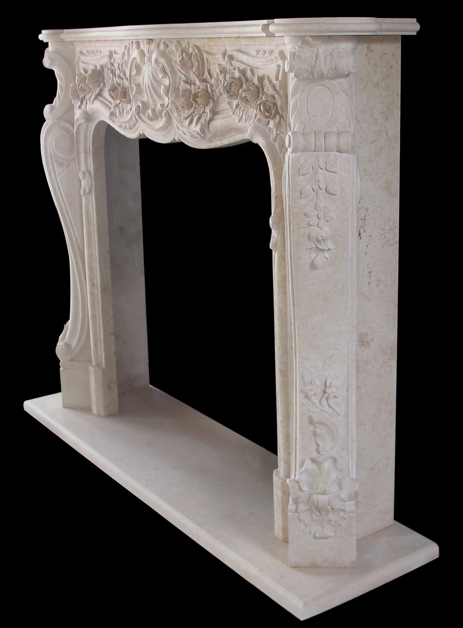 victoria egyptian cream marble fireplace mantel