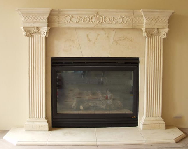 Cast Stone Fireplace Mantels Pre Cast Surrounds Faux